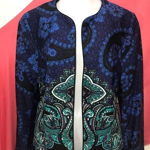 New w Tags Coldwater Creek paisley  jacket size 4